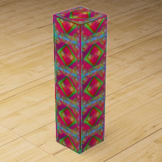 Geometrischer Entwurf Wein-Geschenkverpackung