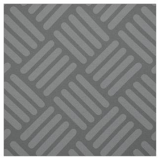 Geometrischer Fabric Module und Striche Grau Stoff