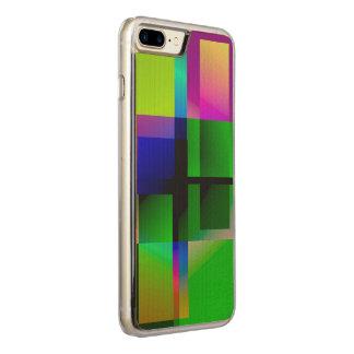 Geometrischer farbiger Entwurf iPhone Kasten Carved iPhone 8 Plus/7 Plus Hülle