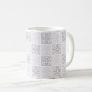 Geometrischer Fliesenentwurf Kaffeetasse