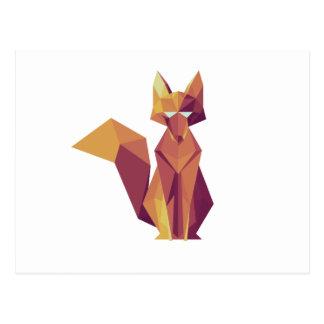 Geometrischer Fox Postkarte