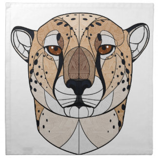 Geometrischer Gepard Stoffserviette