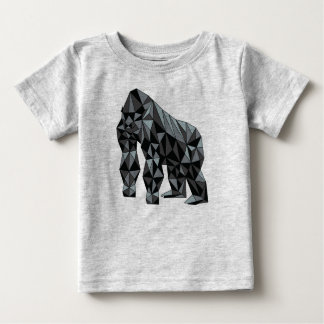 Geometrischer Gorilla Baby T-shirt