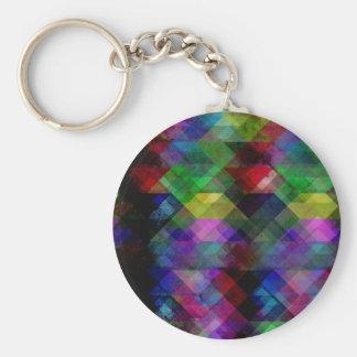 Geometrischer Grunge abstrakt Schlüsselanhänger