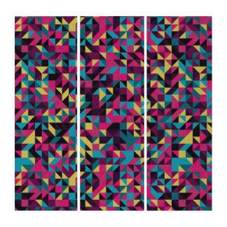 Geometrischer heller Pinwheel-abstrakte Wand-Kunst Triptychon