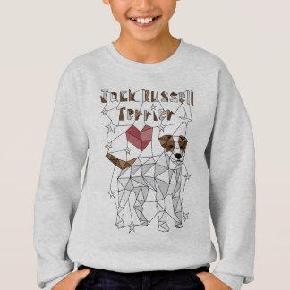 Geometrischer Jack-Russell-Terrier Sweatshirt