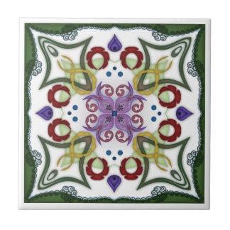 Geometrischer Kaleidoskop-Spiegel-Entwurf - Trivet Keramikfliese