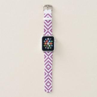 Geometrischer Lavendel und weiße Sparren, Apple Watch Armband