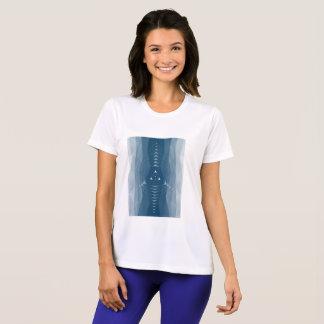 Geometrischer Leistungsfrauen Sport-Tek T-Shirt