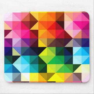 Geometrischer Muster-Vektor buntes Mousepad