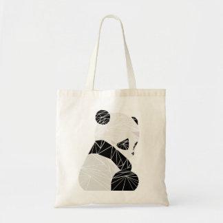 Geometrischer Panda Budget Stoffbeutel