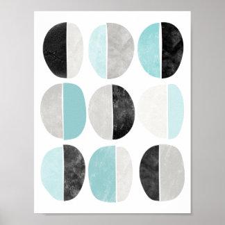 Geometrischer Plakatdruck der skandinavischen Art Poster