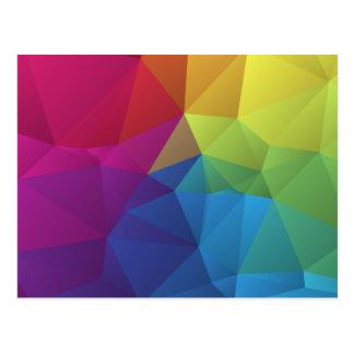 geometrischer Polygonentwurf des abstrakten bunten Postkarten