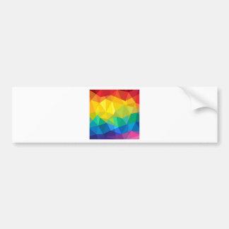 Geometrischer Regenbogen Autoaufkleber