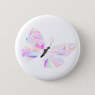 Geometrischer Schmetterling Runder Button 5,7 Cm