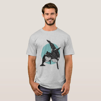 Geometrischer Schwertwal T-Shirt