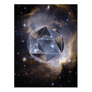 Geometrischer Sternhaufen Postkarte