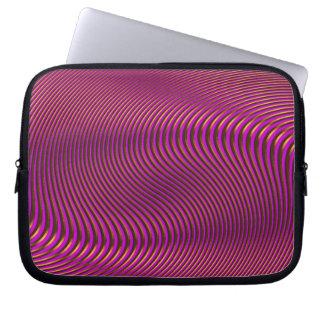 Geometrischer Täuschungs-OPkunst-Laptop-Kasten Laptop Sleeve