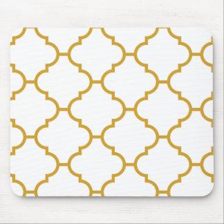 Geometrischer verzierter gelber Entwurf Mauspad