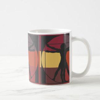 Geometrischer Vitruvian Mann Kaffeetasse