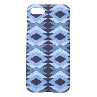 Geometrisches abstraktes Muster-blaues modernes iPhone 8/7 Hülle
