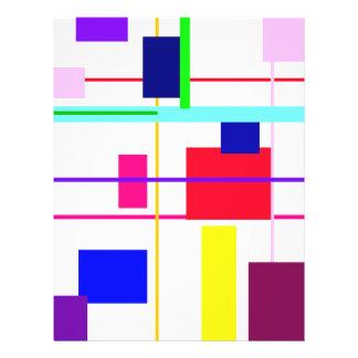 Geometrisches abstraktes rotes Quadrat Flyerbedruckung