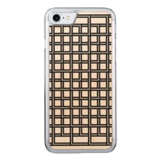 Geometrisches abstraktes Schwarzweiss-Muster Carved iPhone 8/7 Hülle