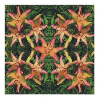 Geometrisches Azaleen-Muster-Plakat Perfektes Poster