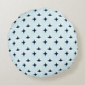 Geometrisches blaues Baby-Kissen Rundes Kissen