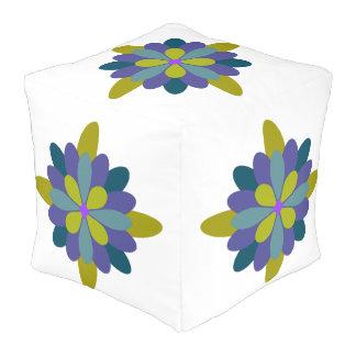 Geometrisches Blumen Hocker