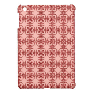 Geometrisches Blumen im Pfirsich und im Rot iPad Mini Hülle