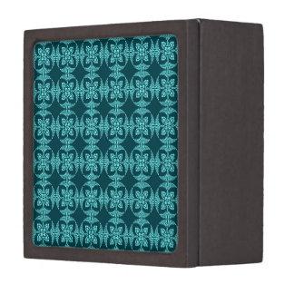 Geometrisches Blumen in den Aqua-Schatten Kiste