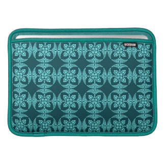 Geometrisches Blumen in den Aqua-Schatten MacBook Air Sleeve