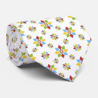Geometrisches Blumenmuster Individuelle Krawatte