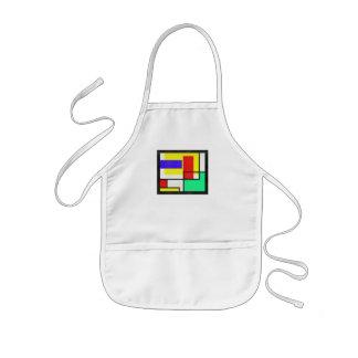 Geometrisches buntes Pixel-Muster Kinderschürze