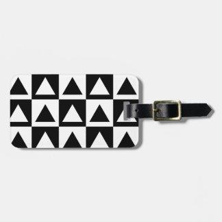 Geometrisches Formmuster des Schwarzweiss-Dreiecks Gepäckanhänger