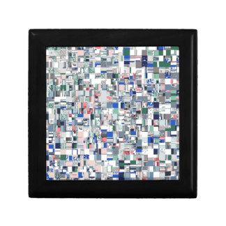 Geometrisches Gitter von Farben Geschenkbox