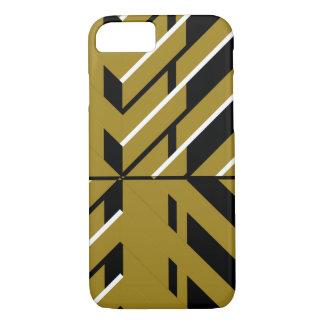 Geometrisches Gold und Schwarzes iPhone 8/7 Hülle