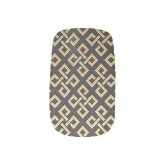Geometrisches goldenes Luxusmetallisches Minx Nagelkunst