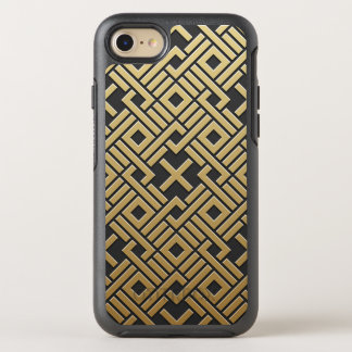 Geometrisches goldenes metallisches OtterBox symmetry iPhone 8/7 hülle