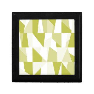Geometrisches grünes Muster Schmuckschachtel