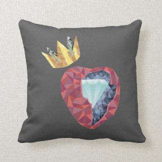Geometrisches Herz Kissen