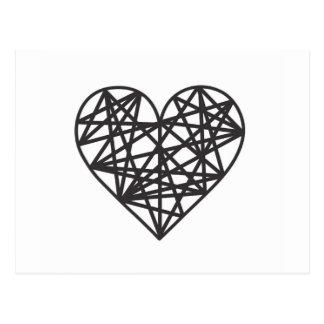 Geometrisches Herz Postkarte