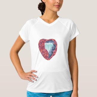 Geometrisches Herz T-Shirt