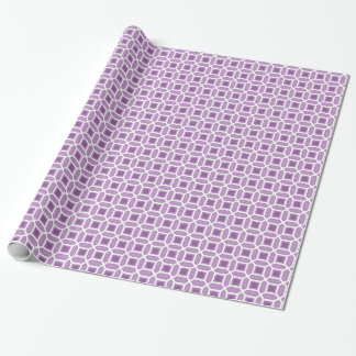 Geometrisches Kreis-Muster lila Geschenkpapier