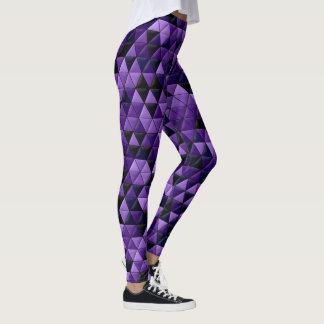 Geometrisches lila Muster Leggings