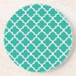 Geometrisches modernes des aquamarinen blauen maro untersetzer