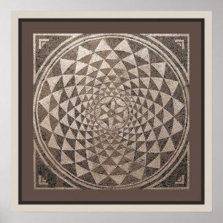 Geometrisches Mosaik Saragossas Salduba Poster