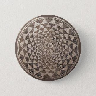 Geometrisches Mosaik Saragossas Salduba Runder Button 5,7 Cm