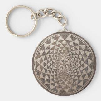 Geometrisches Mosaik Saragossas Salduba Schlüsselanhänger